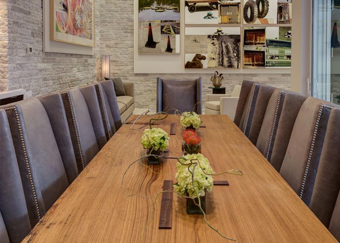 custom handcrafted dining table