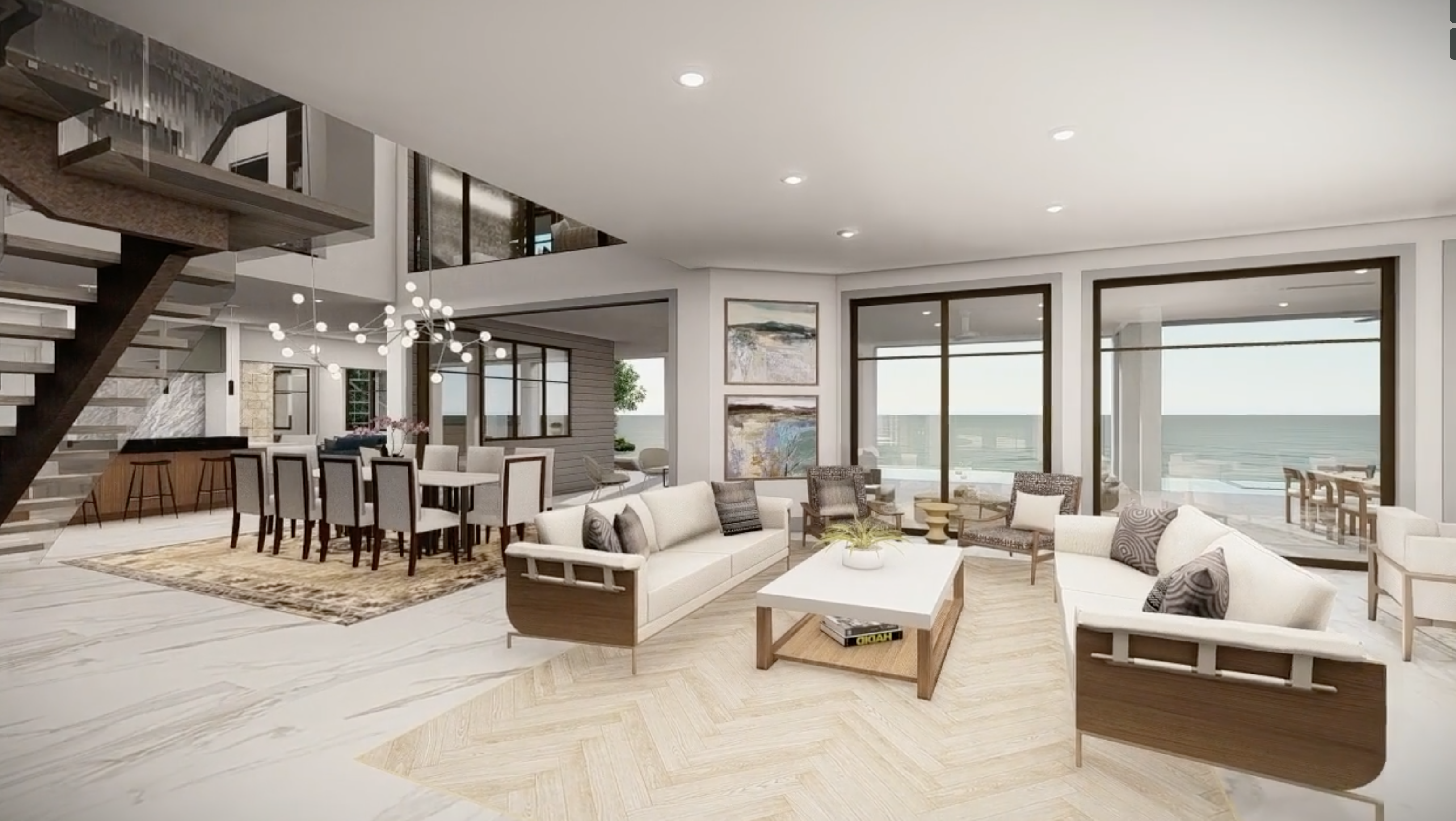 3d rendering of home interior - phil kean design group