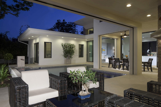 modern indoor outdoor space in home